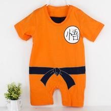 2015 nuevo diseño de verano del bebé gracioso mono de algodón de manga corta escalada leotardo wukong ropa
