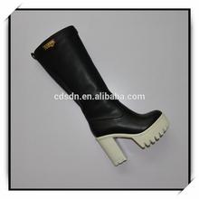 2015 new design rubber outsole pu upper woman boot