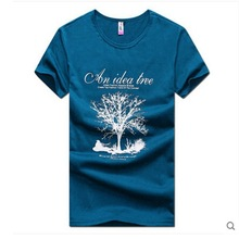 100% organic cotton silk screen printed men's custom T-shirts ,crew neck fashion t-shirt