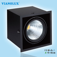 Recessed frame cube downlight Led Grille Light 25W 35W for office