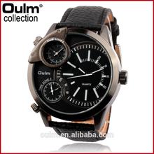 HP3136 Fashion army Sports design PU leather band oulm men's quartz watch
