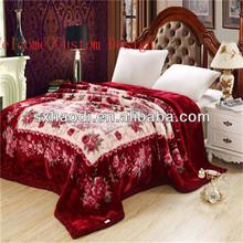 mink blankets wholesale/blanket factory china/raschel blanket
