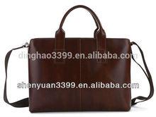 Men's Leather Messenger Bag Business Handbag Briefcase Laptop Shoulder Bag