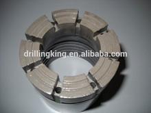 High drilling rate impregnated tube diamond core bits