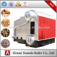 Two drums water tube rice husk fired steam boiler husk fuel boiler