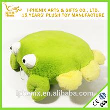 Eco-friendly Green Crab Plush Travel Pillow Sofa Cushion