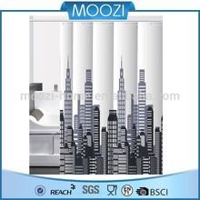 modern grey empire city PVC printing shower curtain