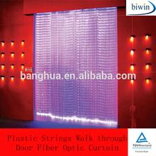 Plastic Strings Walk through Door Fiber Optic Curtain