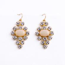 Fashion Crystal Cross Earrings From Shijie Jewelry