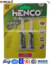 HC-2 Henco Daily DIY use Super Glue, 502 Super Fast Glue, Cyanoacrylate Adhesive in Tube Packing
