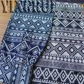 estilo chino impreso y camisa de vestir de tela de mezclilla