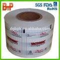 Personalizado impresso filme laminado plástico/rolo de filme/rolo de filme