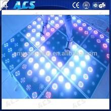 2015 China Manufacture Indoor Sensitive LED Dance Floor AUTO, DMX512, PC control,RGB digital led dance floor