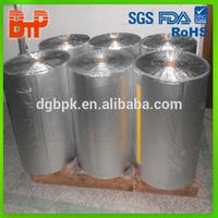 silver aluminum laminated plastic film roll