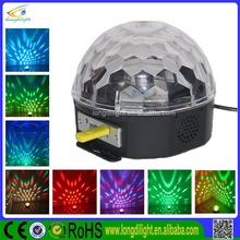 Led magic ball light for 3*3w crystal ball sound control light