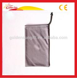 Silk Screen Printed Microfiber Kids Glasses Soft Fabric Cloth Pouch, Eyewear Drawstring Bag