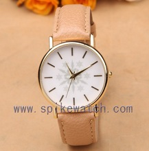 Custom promotional leather women wrist watch mothers day gifts cheap