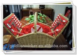 hamper basket, wicker picnic baskets wholesale, easter hamper for 4 person