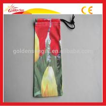 Microfiber Glasses Bag With Silk Printed Logo And Single Or Double Drawstrings,Drawstring Microfiber glasses bag