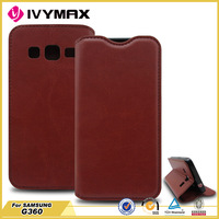 wholesale mobile phone accessory for samsung g360 card holder leather case