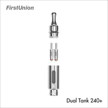 High quality dual tank atomizer mixed flavor stainless steel atomizer tank rebuildable dual tank 240+