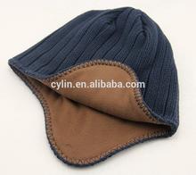 Winter man sets dimming knitting wool cap