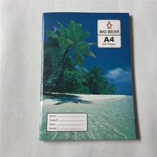 customized printing pages school supply A4 200 pages exercise book