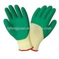 forrados de algodón guantes de látex