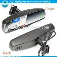 4.3 inch gps car navigation system mirror gps garmin world best selling products car dvr gps