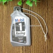 Oil&Gas bottle shape new custom car air freshener&Printed Paper Air Freshener