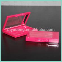 ES0438 9 colors pink eyeshadow box with mirror