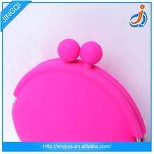 Candy color cute silicone coin purse kids wallet