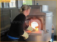 Melting small glass furnace for sale