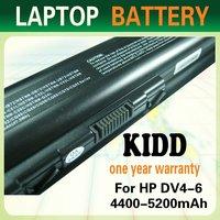 Best sales MSDS certificate maintenance 10.8V 4400mAh external laptop battery for HP DV4 DV5 DV6 G50 G60 G70