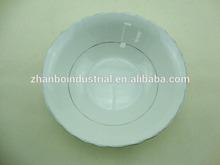 6 inch porcelain salad bowl with cut edge/ceramic salad bowl