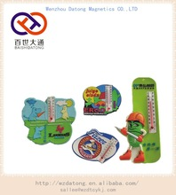 soft pvc fridge magnet with thermometer