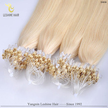 Hot Srrival Ali Express Russian Silky Wholesale Italian Glue hair extension micro rings copper