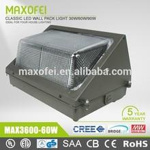 American Standard 5 year warranty 30w,60w,90w led wall pack light / 60w wall pack / UL led wall pack light