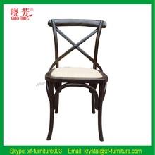الجملة اليد منحوتة خشب الساج الصليب قابلة للطي الكراسي الخلفية
