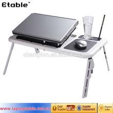 E-table LD09 Multifuctional & ergonomic design adjustable laptop table chair