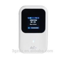 3G 4G mini wifi router 100M 2400mAh LED screen wireless router WLAN LAN connecting 4G hotpot