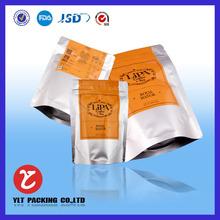 custom printed zip top stand up plastic bag/zipper stand bag