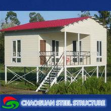 3 storey prefabricated house light steel homes