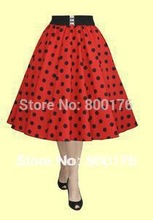 Bestdress cheap pin up discount vintage retro 50s Inspired Red POLKA DOT High Waist FULL CIRCLE SWING rockabilly dress boutiqu