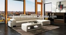 2015 MILANO white genuine leather sofa