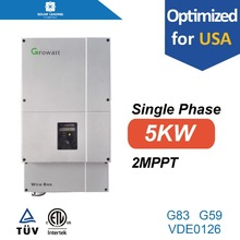 Solar grid tie variable frequency home inverter with MPPT and overvoltage protection