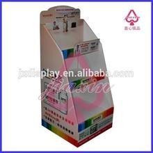 3 layer free standing paper floor shelf display rack for Centrum medicine