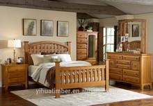 Luxury royal wooden carved Turkish style bedroom set furniture