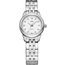 attractive lady quartz wrist watch made of all stainless steel