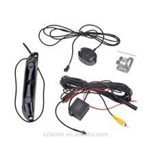 3 in 1 Video Camera+Control Box+ 2 Parking Sensor License Plate Car Backup Radar